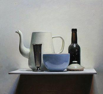 Stilleven met koffiekan, 51x46, 2011.VERKOCHT