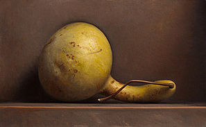 Stilleven met gele kalebas, 39x25cm, 2014.