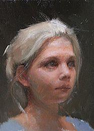 Kleine portretstudie, 18x24cm, 2011.