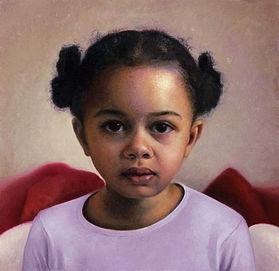 Portret van meisje, 34x33cm, 2013.
