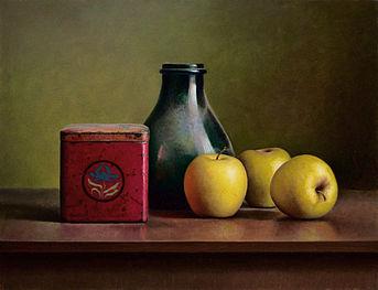 Appelstilleven, 47x36cm, 2013.SOLD
