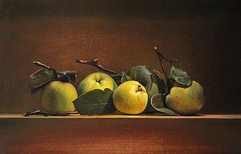 Stilleven met kweeappels, 50x32cm, 2011.VERKOCHT