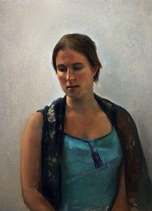 Portretstudie Laura, 50x37cm, 2011.