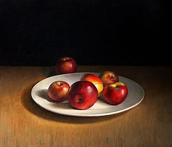 Stilleven met appels, 68x58cm, 2010.