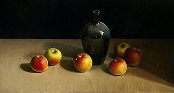 Appelstileven, 78x41cm, 2009. VERKOCHT (Collectie Galerie Zozimus, Ierland)