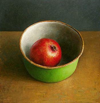 Stilleven met granaatappel, 60x60cm, 2006.