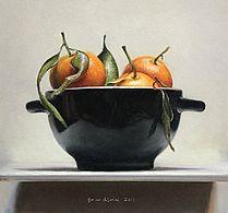 Stilleven met mandarijntjes II, 22x20, 2011.VERKOCHT