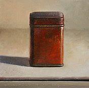 Stilleven met rood blikje, 16x16cm, 2009.