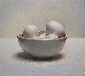 Stilleven met eieren, 33x26, 2011.VERKOCHT