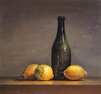 Stilleven met citroenen, 43x40cm, 2011.VERKOCHT (Prive collectie Groot Brittannie)