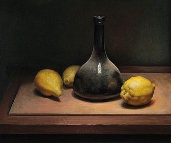 Stilleven met citroenen, 44x38cm, 2012.VERKOCHT