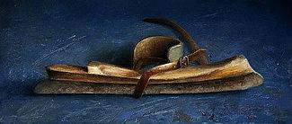Stilleven met schaats, 44x19cm, 2005.