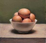 Eieren in kommetje, 20x21cm, 2012.