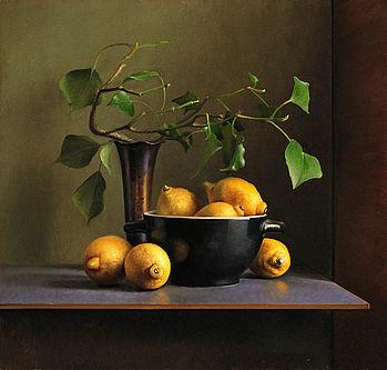 Stilleven met citroenen, 55x52cm, 2013.SOLD