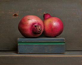 Stilleven met granaatappels, 35x28cm, 2014. SOLD